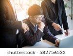 teamwork process. young... | Shutterstock . vector #582756532