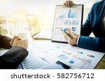 team work process. young... | Shutterstock . vector #582756712