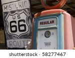 Old Style Gas Station On The...