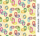 endless abstract pattern.... | Shutterstock .eps vector #582776122