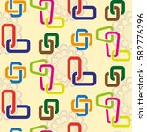 endless abstract pattern.... | Shutterstock .eps vector #582776296