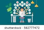 web social network concept for... | Shutterstock .eps vector #582777472