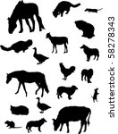 Illustration With Farm Animals...