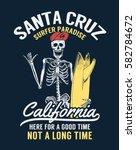 santa cruz  californiasurfer... | Shutterstock .eps vector #582784672