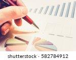 statistic graph of stock market ... | Shutterstock . vector #582784912