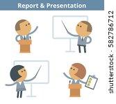 business cartoon avatar set ... | Shutterstock .eps vector #582786712