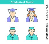 occupations colorful avatar set ... | Shutterstock .eps vector #582786766