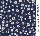 vector flowery pattern.... | Shutterstock .eps vector #582786826