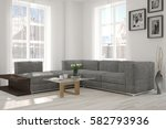 white room with sofa and winter ...   Shutterstock . vector #582793936