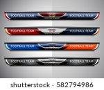 scoreboard broadcast graphic... | Shutterstock .eps vector #582794986