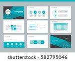 presentation background design... | Shutterstock .eps vector #582795046