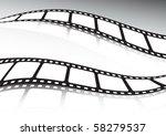 vector film  roll double... | Shutterstock .eps vector #58279537