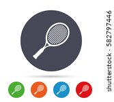 tennis racket sign icon. sport... | Shutterstock .eps vector #582797446