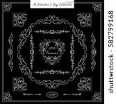 vector set of vintage corners... | Shutterstock .eps vector #582799168