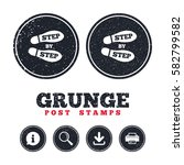 grunge post stamps. step by... | Shutterstock .eps vector #582799582