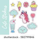 patch  badges  stickers with... | Shutterstock .eps vector #582799846