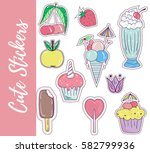 patch  badges  stickers with... | Shutterstock .eps vector #582799936