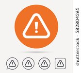 warning icon. attention... | Shutterstock .eps vector #582804265