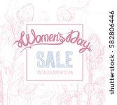 women's day poster  flyer or...   Shutterstock .eps vector #582806446