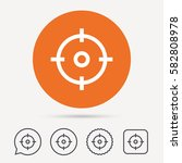 target icon. crosshair aim... | Shutterstock .eps vector #582808978