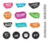 ink brush sale banners and... | Shutterstock .eps vector #582812902
