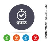 quiz timer sign icon. questions ... | Shutterstock .eps vector #582813232