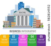 business infographic. bank... | Shutterstock .eps vector #582814552