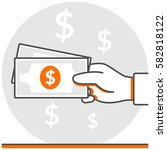 cash payment   infographic icon ...