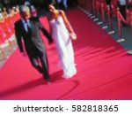 blurred image. red carpet... | Shutterstock . vector #582818365