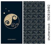 vector set with a card with... | Shutterstock .eps vector #582818482