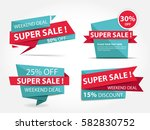 colorful shopping sale banner... | Shutterstock .eps vector #582830752