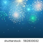 vector holiday colorful... | Shutterstock .eps vector #582833032