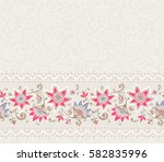 seamless floral pattern. vector ... | Shutterstock .eps vector #582835996