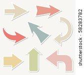 vector arrows | Shutterstock .eps vector #58283782
