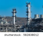 oil and gas industry refinery... | Shutterstock . vector #582838012