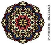 mandala. vector ethnic oriental ... | Shutterstock .eps vector #582838336