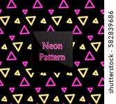 seamless pattern neon   Shutterstock .eps vector #582839686