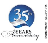 anniversary 35 th years... | Shutterstock .eps vector #582844645
