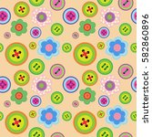 cute seamless floral pattern... | Shutterstock .eps vector #582860896