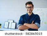 happy website designer ...   Shutterstock . vector #582865015