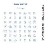 vector graphic set. icons in... | Shutterstock .eps vector #582881362