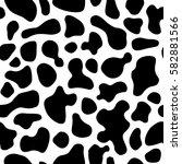 texture white cow black spot... | Shutterstock .eps vector #582881566