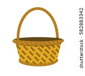 wicker basket icon  empty... | Shutterstock .eps vector #582883342