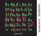acid zombie monster alphabet... | Shutterstock .eps vector #582884962