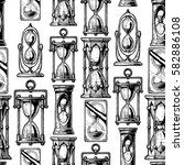 seamless vector pattern with... | Shutterstock .eps vector #582886108