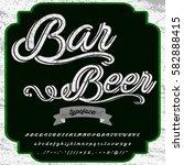 bar beer  vintage font... | Shutterstock .eps vector #582888415