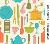 seamless pattern with color... | Shutterstock .eps vector #582889405