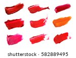 collage of decorative cosmetics ... | Shutterstock . vector #582889495