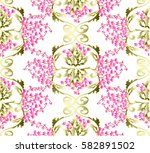 baroque pattern with small... | Shutterstock .eps vector #582891502