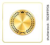 seal award gold icon. blank...   Shutterstock .eps vector #582895936